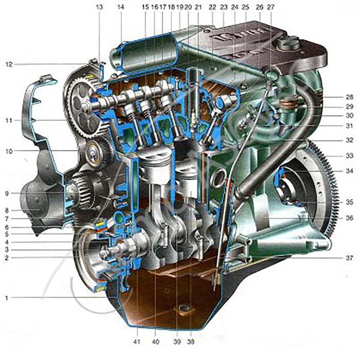 схемы двигателя ваз 2112 в картинках