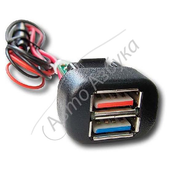 Зарядное устройство (2 порта USB) на ВАЗ Шевроле НИВА, Калина, ВАЗ 2110 - фото 10334