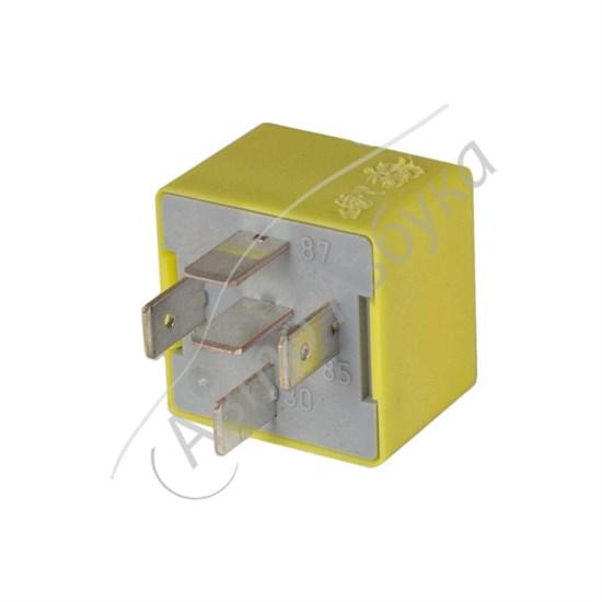 Реле желтое 40А 12V (5 контактов) на ВАЗ Ларгус, Веста, Датсун - фото 10403