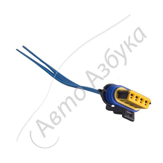 Разъём к регулятору холостого хода (4 клеммы) инжектор на ВАЗ 2112-2115, Нива - фото 10983