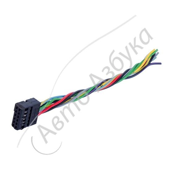 Разъем подключения электрозеркал к блоку стеклоподъемников на Калина - фото 11025
