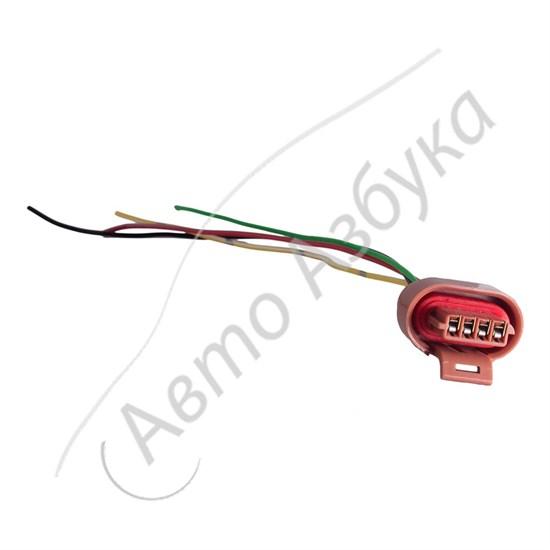 Разъём к модулю зажигания 4 клеммы в сборе с проводами на инжектор - фото 11029
