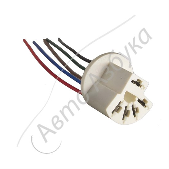 Разъем переключателя оборотов вентилятора отопителя (5 клемм) на ВАЗ Приора - фото 11119