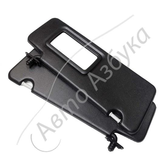 Козырек солнцезащитный без зеркала (черный) на ВАЗ Гранта, Калина - фото 11482
