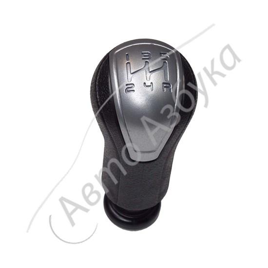 Ручка рычага переключения КПП (серебристая вставка) на ВАЗ Гранта, Калина 2 - фото 11494