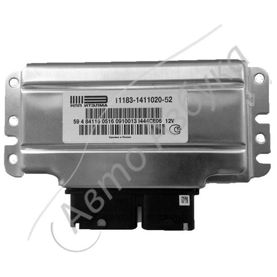 ЭБУ 11183-1411020-52 Калина E-GAS (V8 L1.6 Е-4) 2 датчика кислорода (М74) - фото 12052