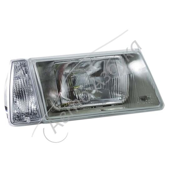 Блок фара с белым указателем поворота без ламп на ВАЗ-2108 - фото 8389