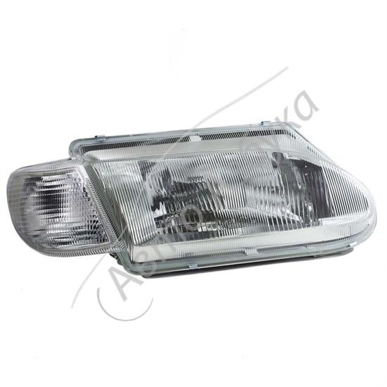 Блок фара с белым указателем поворота без ламп (левая или правая) ВАЗ-2115 - фото 8391