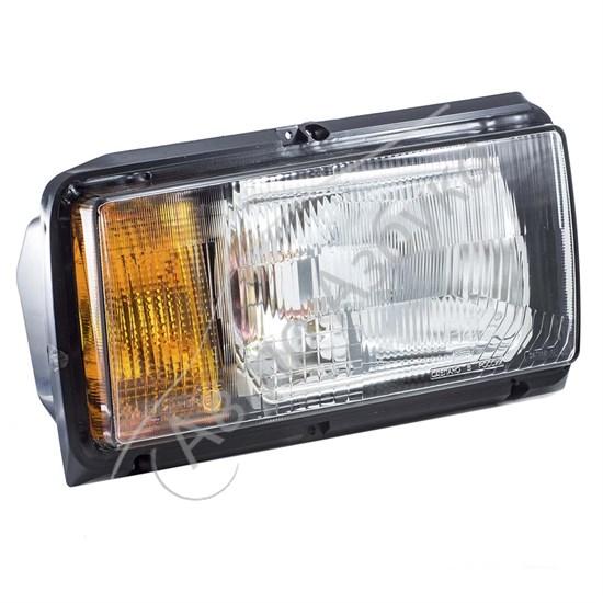 Блок фара с желтыми указателями поворота без ламп на ВАЗ-2105 - фото 8393