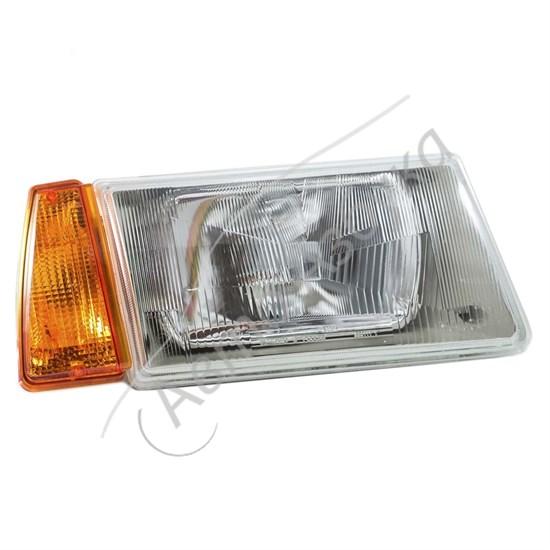 Блок фара с желтым указателем поворота без ламп на ВАЗ-2108 - фото 8394