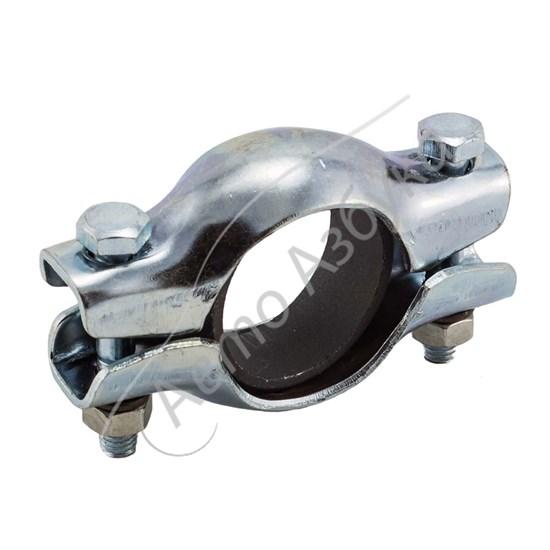 Хомут глушителя в сборе с кольцом и крепежом на ВАЗ 2108-099, 2110-2115 - фото 8675