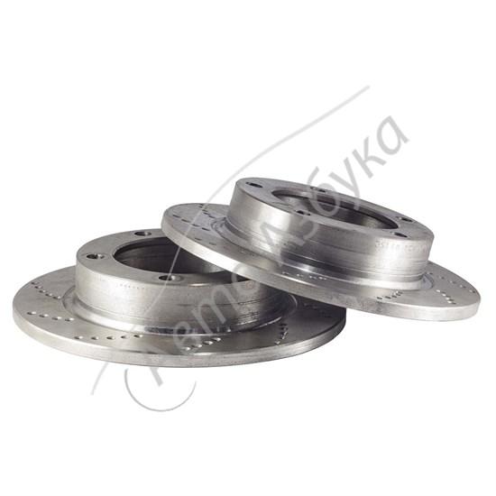 Тормозной диск перфорированный (2 шт.) на ВАЗ Нива, Шевроле Нива - фото 9380