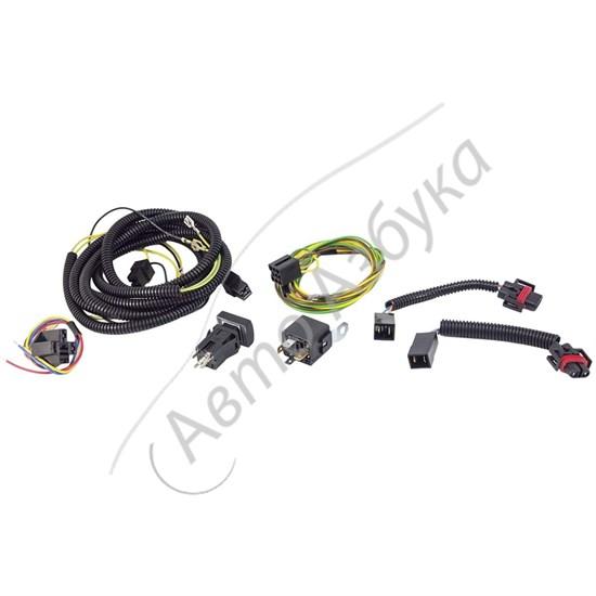 Комплект проводки для подключения противотуманных фар на ВАЗ Нива, Приора - фото 9453