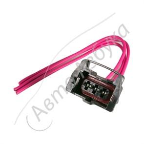 Разъем соединительная датчика скорости (3 контакта, квадрат)