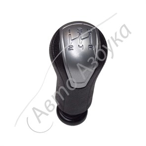 Ручка рычага переключения КПП (серебристая вставка) на ВАЗ Гранта, Калина 2