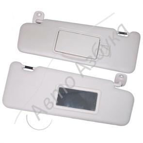 Козырек солнцезащитный с зеркалом (комплект) для Лада Ларгус Люкс, Х Рей